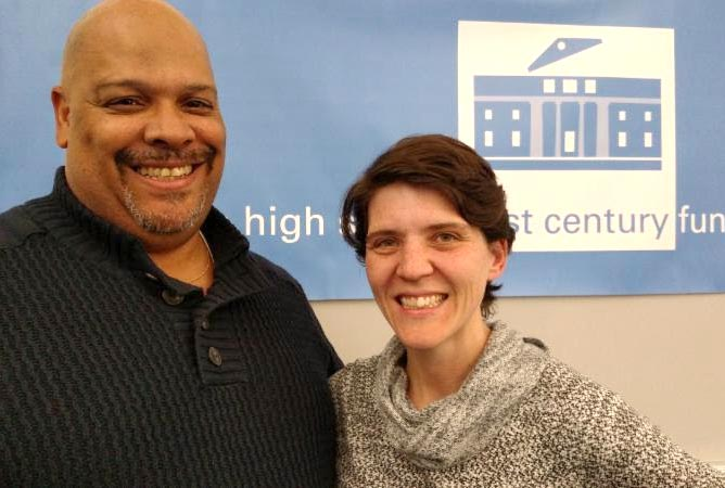 Malcolm Cawthorne and Kate Leslie, co-teachers of Brookline High School's Racial Awareness Seminar